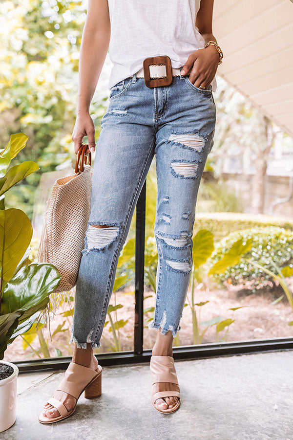 The Chaney High Waist Distressed Relaxed Skinny