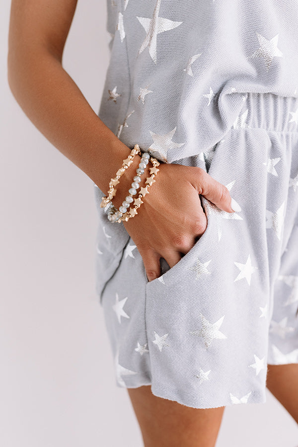 Catching Stars Bracelet Set In Grey