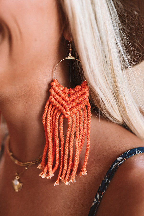 Way To Stand Out Earrings In Orange