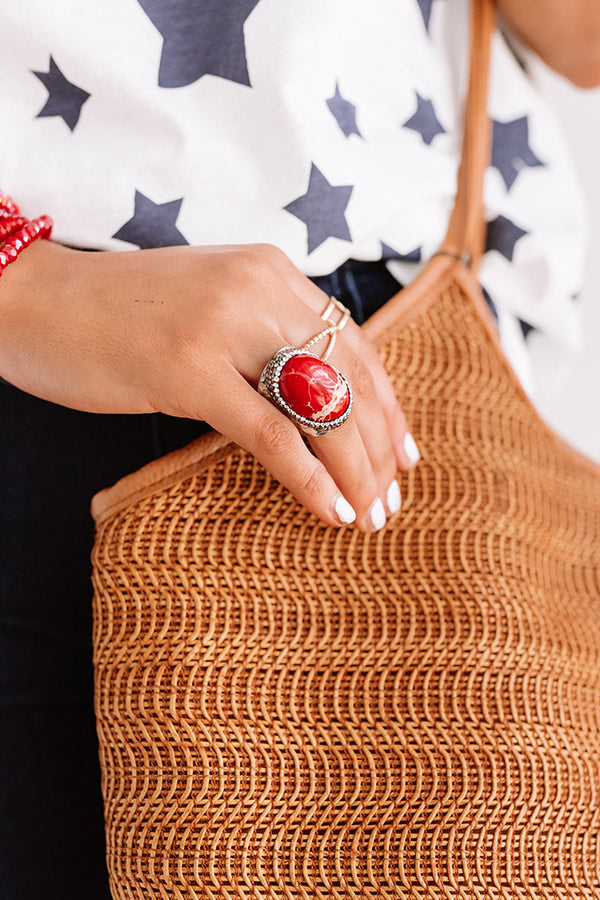 Dreamy And Darling Ring In Red