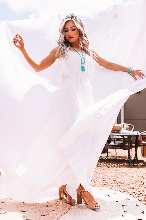 Maui Beach Maxi In White