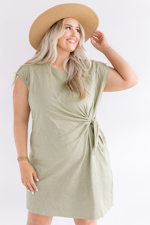Social Hour Dress In Sage