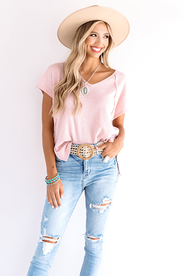 Into The Music Shift Top In Pink