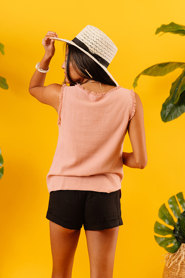 Desert Views Shift Top In Peach