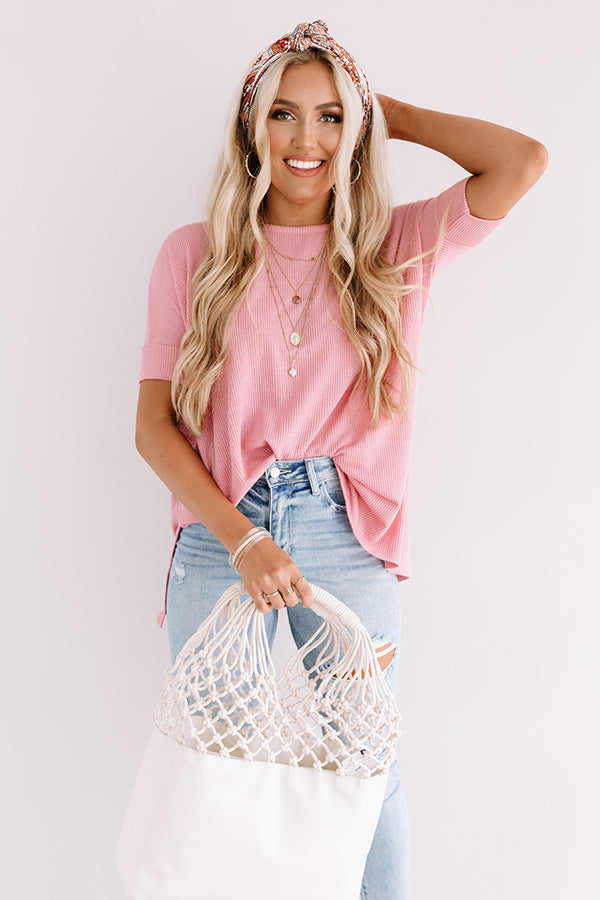 Chic Instinct Shift Top In Blush