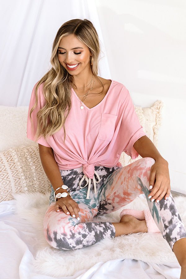 SoCal Luxe Shift Top In Pink
