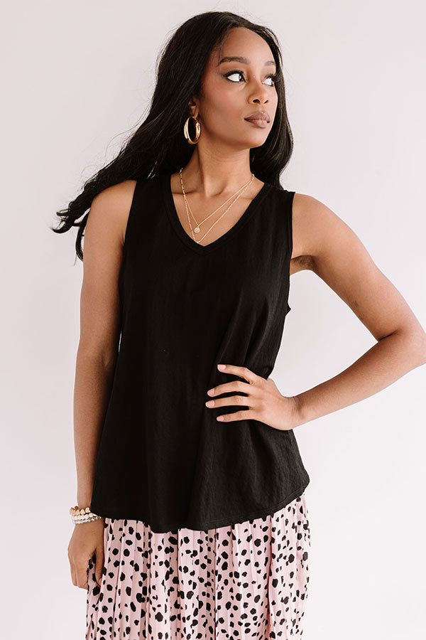 Warm Water Wishes Shift Top In Black