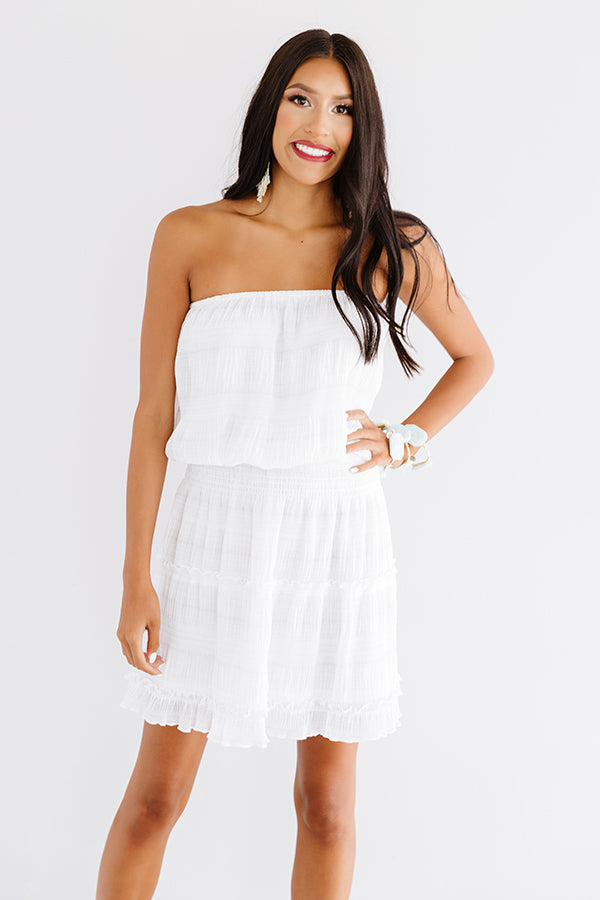 Guard Your Heart Dress In White