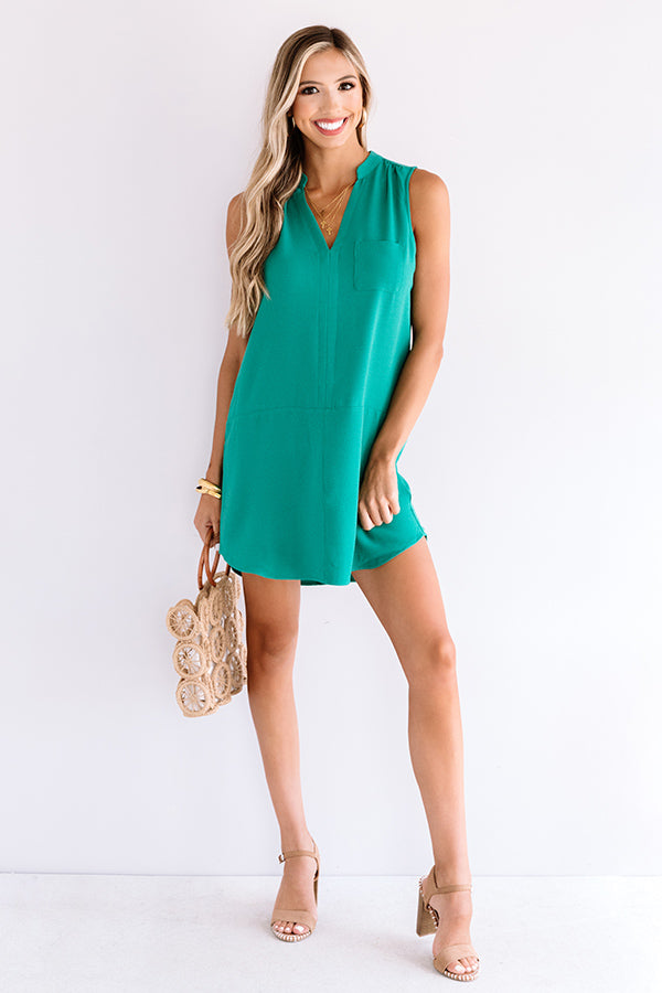 Fly By Shift Dress In Emerald