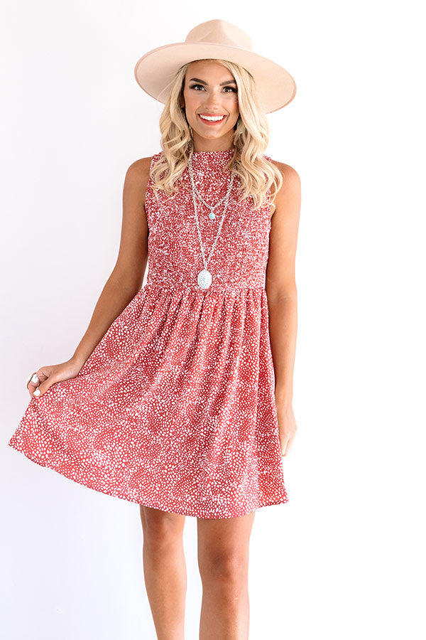Staying At The Palms Shift Dress In Rustic Rose