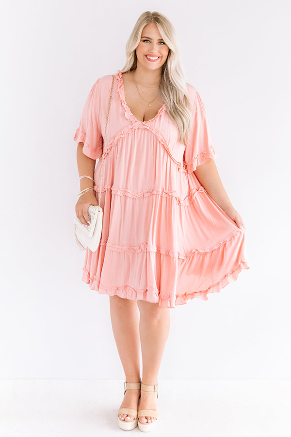 High Spirited Babydoll Dress In Pink