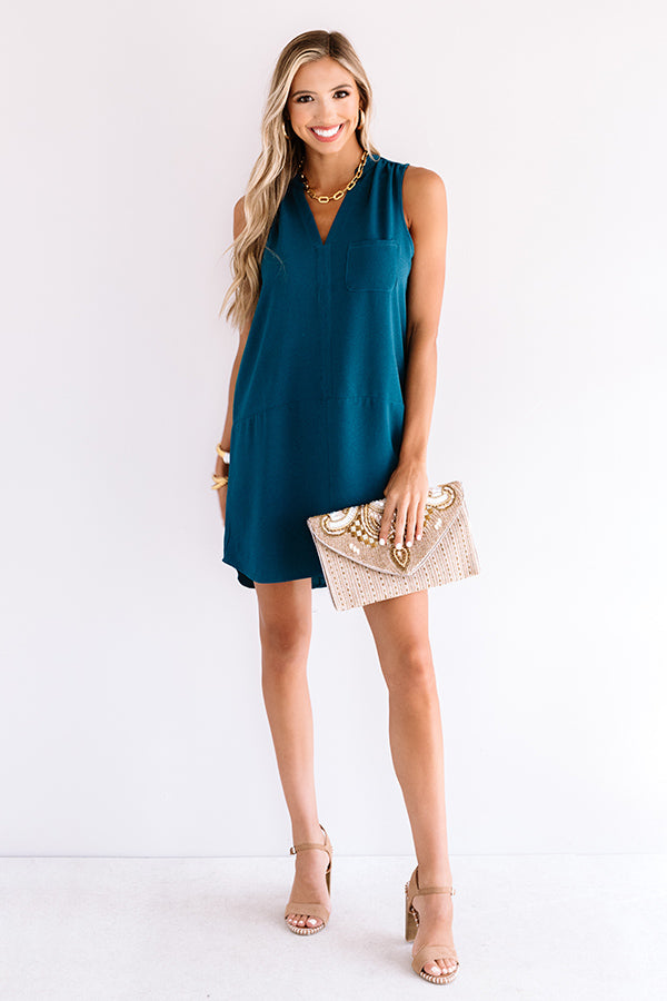 Fly By Shift Dress In Teal
