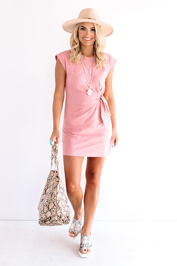Social Hour Dress In Blush