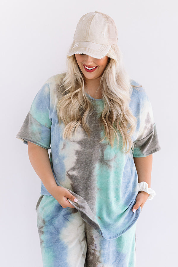 Tender Heart Tie Dye Shift Tee In Mint
