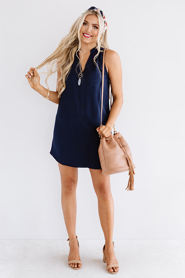 Fly By Shift Dress In Navy