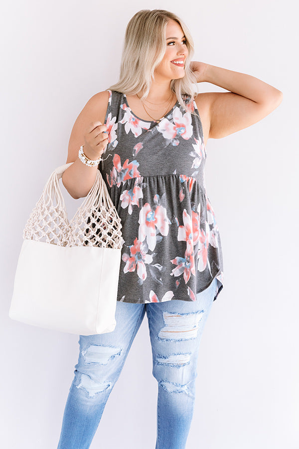 Better In Blooms Babydoll Top In Coral
