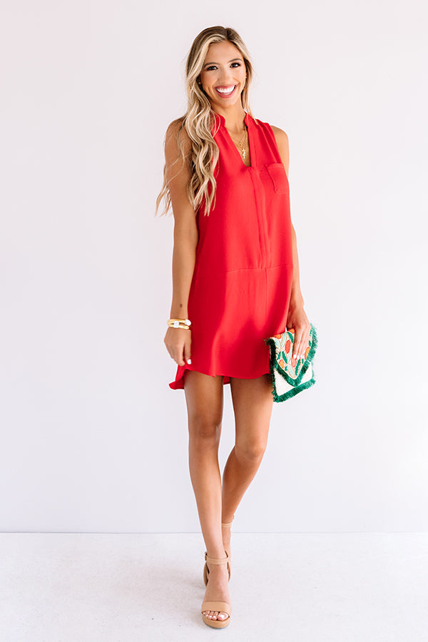 Fly By Shift Dress In Red