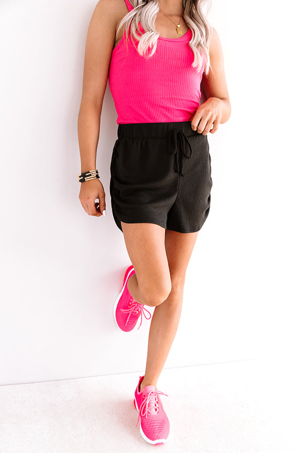 The Kynlee Knit Shorts In Black