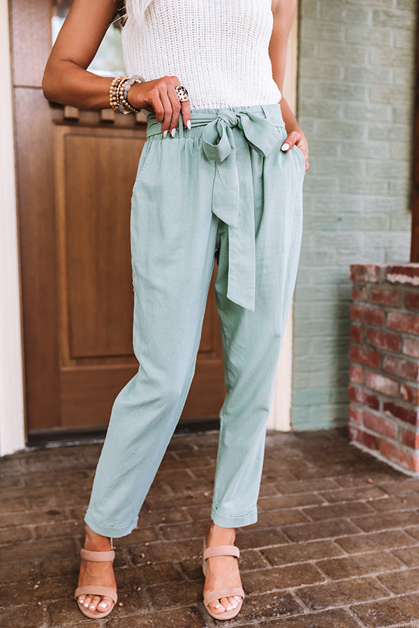 The Celia High Waist Trousers In Pear