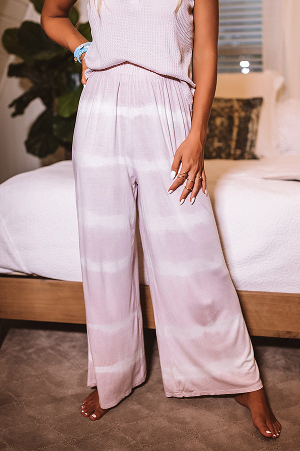 Pacific Coast Highway Tie Dye Pants In Pink