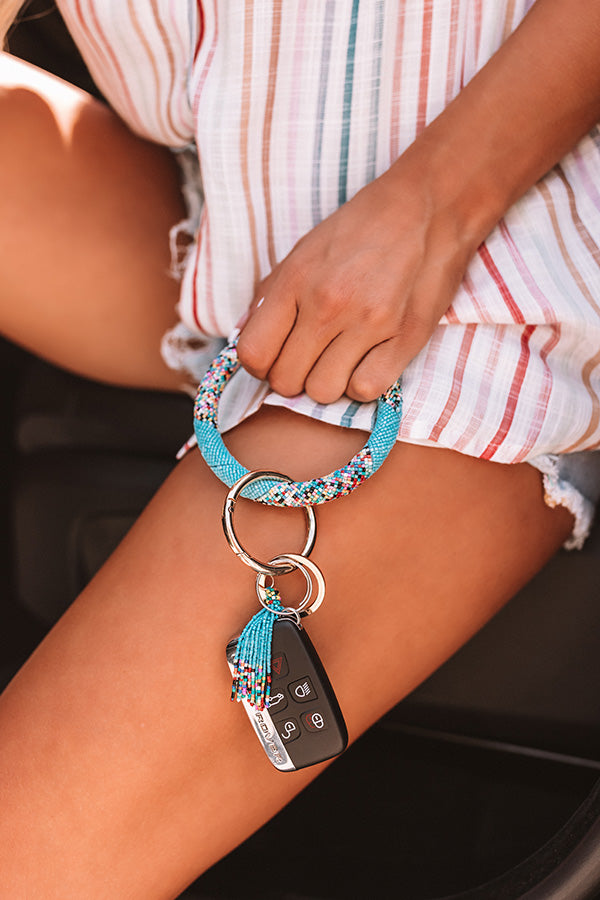 Grand Potential Key Chain In Sky Blue
