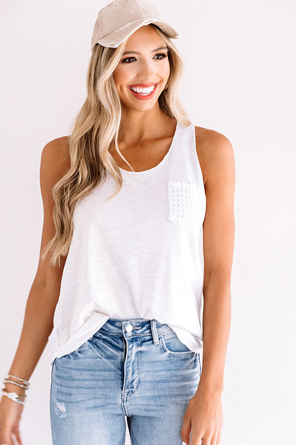 Bali Surf Shift Top In White
