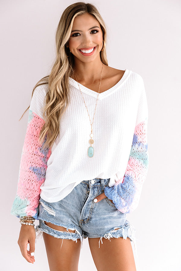 True Miracle Waffle Knit Top
