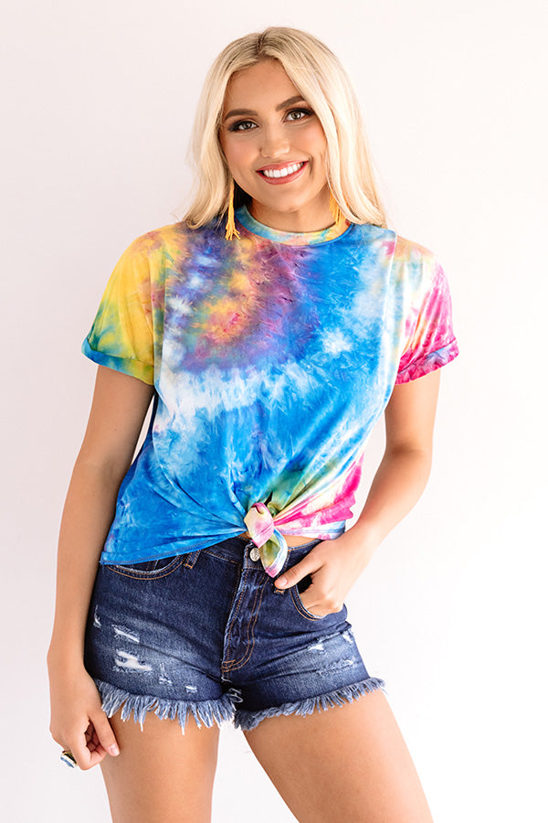 Following Fashion Tie Dye Top