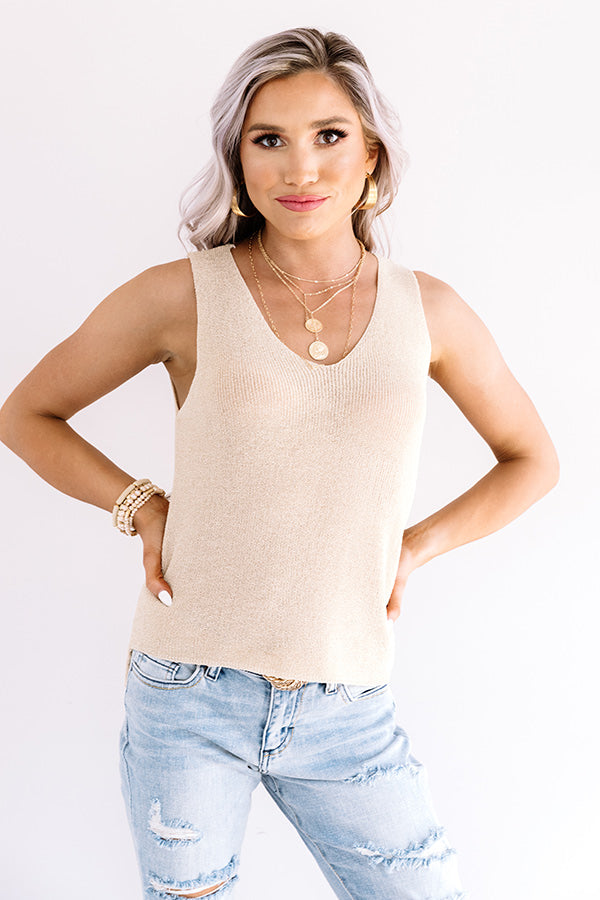 Tender And Kind Knit Top In Beige