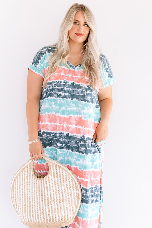 Here And There Tie Dye Maxi In Ocean Wave