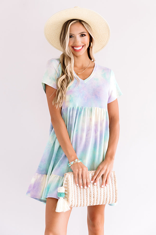 Tropical Times Tie Dye Babydoll Dress