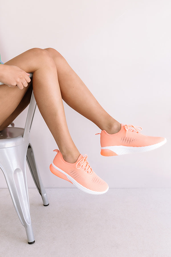The Tuesday Sneaker In Neon Coral