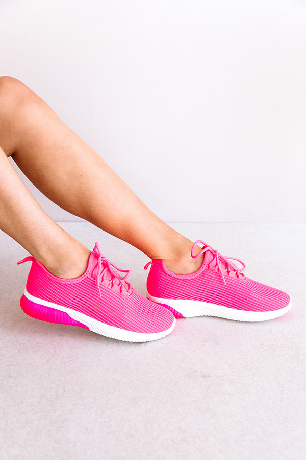 The Tuesday Sneaker In Hot Pink
