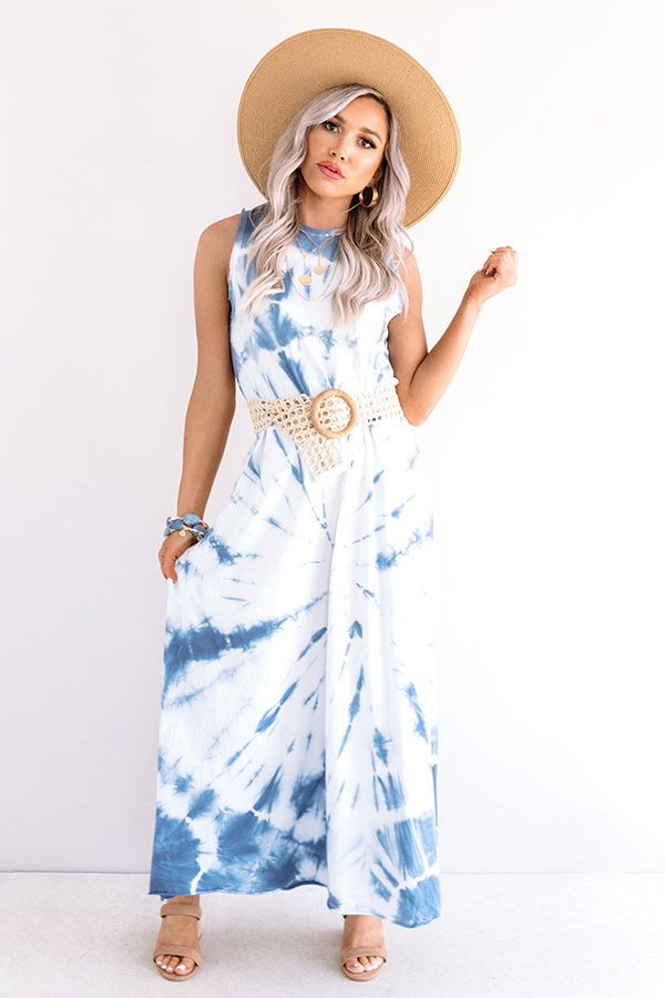 Fiji Float Tie Dye Maxi In Blue