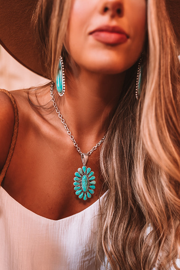 Chasing Waterfallls Turquoise Necklace
