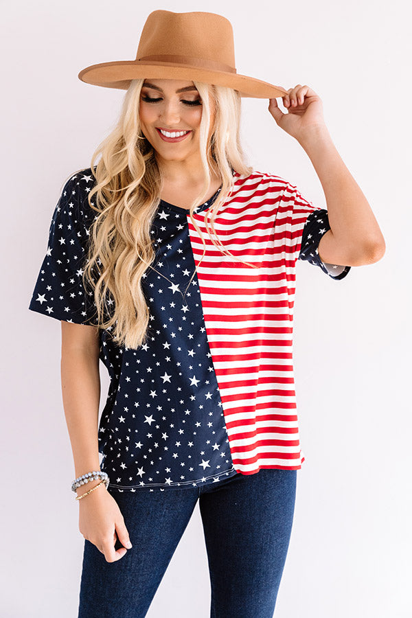 Freedom Rings Shift Top