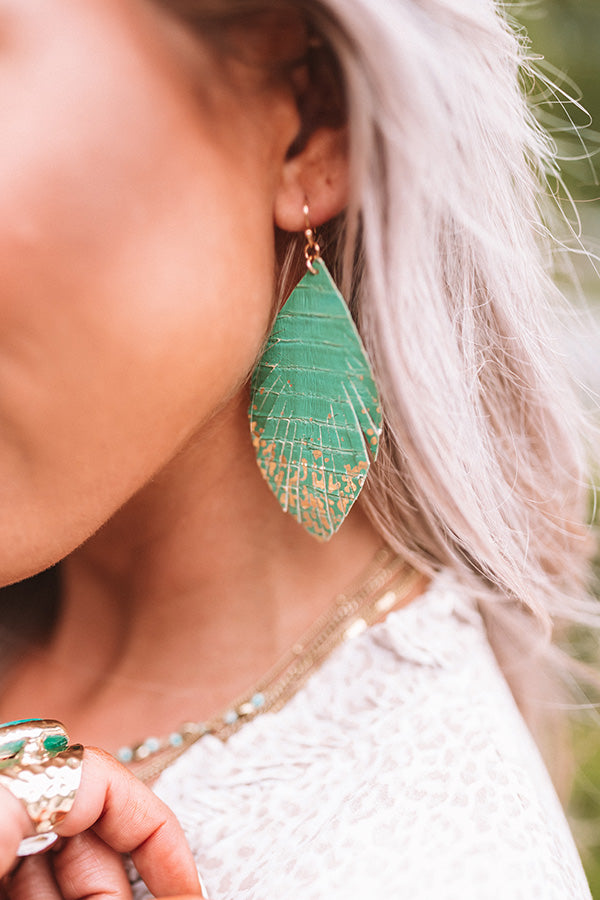Train Into The City Earrings In Emerald