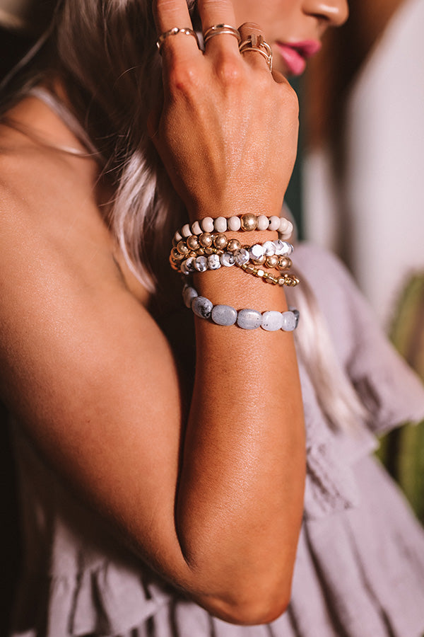 Treat Yourself Bracelet Set In Grey