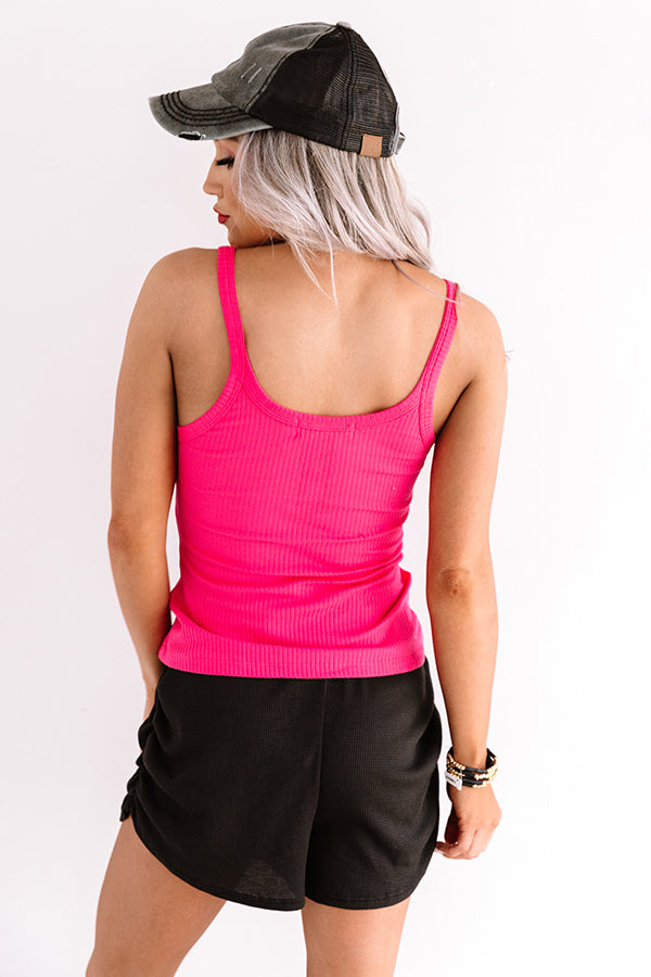 Pick Up The Pace Tank in Hot Pink