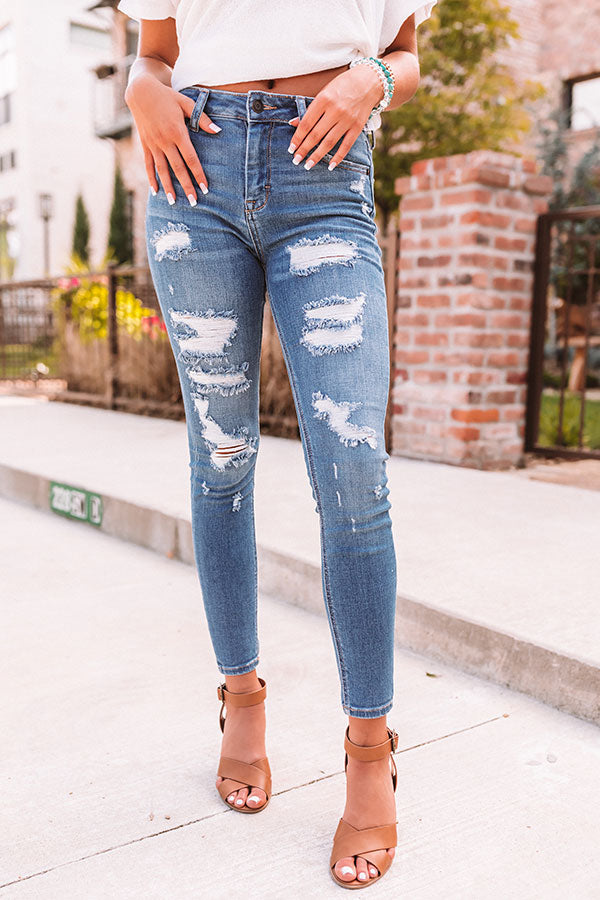 The Janie High Waist Distressed Skinny