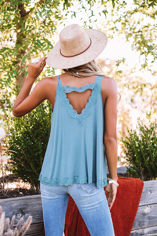 Effortless Attraction Shift Tank In Teal