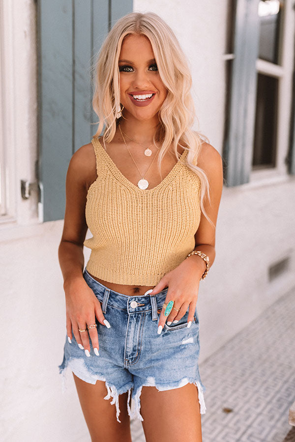 Grand Potential Knit Tank In Yellow