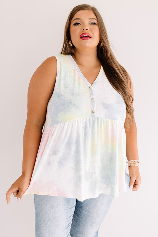 Brave New Twirls Tie Dye Babydoll Top