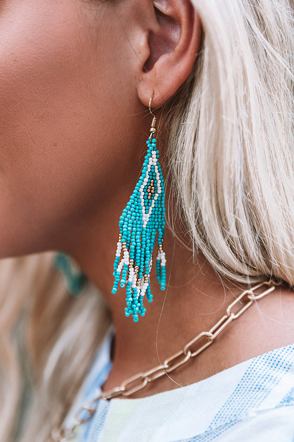 Prosecco In Portofino Beaded Earrings In Turquoise