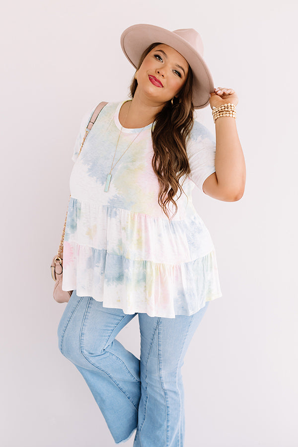 Great Convo Tie Dye Babydoll Top