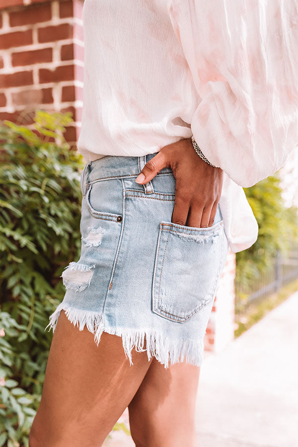 The Zadie High Waist Distressed Shorts