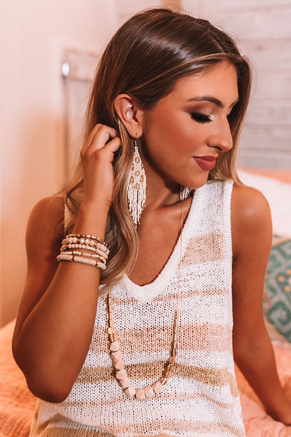 Heating Up Beaded Earrings In Ivory