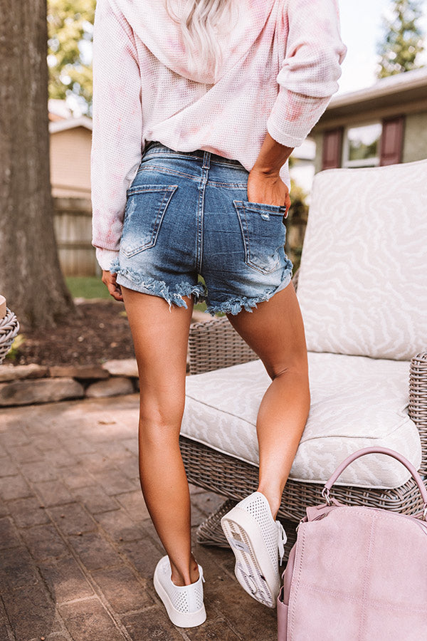 The Lindy High Waist Distressed Shorts