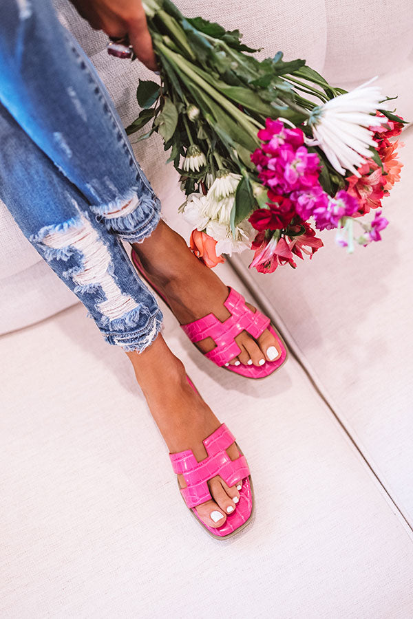 The Raylan Sandal In Fuchsia