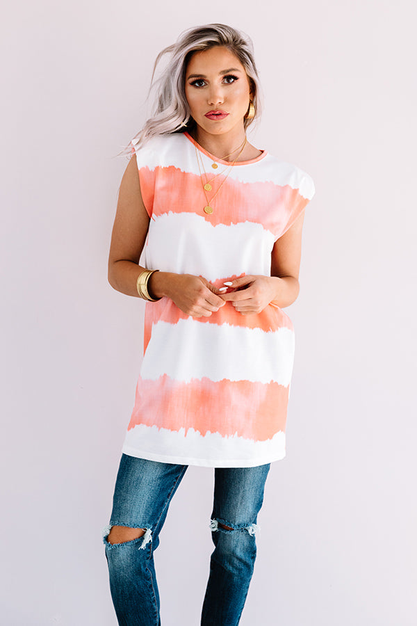 Serene Dreams Tie Dye Dress In Orange